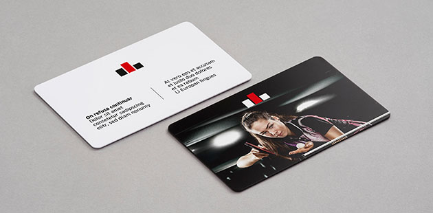 Dunne plastic visitekaartjes