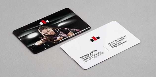 Standaard plastic visitekaartjes