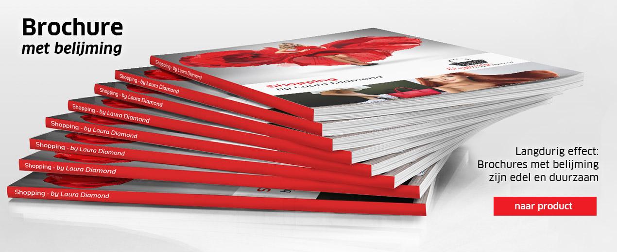 Brochures met belijming