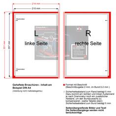 Geheftete Broschüren - Inhalt am Beispiel A4